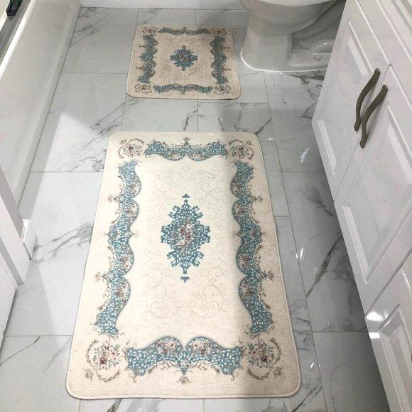 Turkish Rug Bath 2piece Bathroom Rug Set Poshmark
